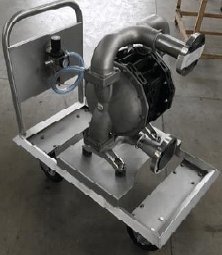 Pompe inox à double membranes